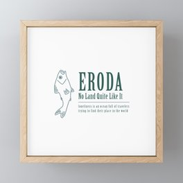 Eroda White x Sabr Framed Mini Art Print