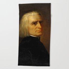 Franz Liszt (1811-1886) by Carl Ehrenberg in 1868 Beach Towel