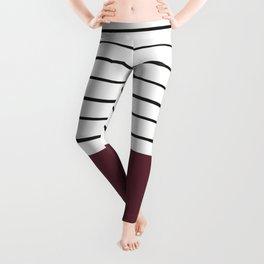 MARINERAS MAROON Leggings