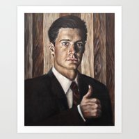 dale cooper Art Prints featuring Agent Dale Cooper / Twin Peaks by Heather Buchanan