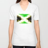 jamaica V-neck T-shirts featuring Jamaica dream by seb mcnulty