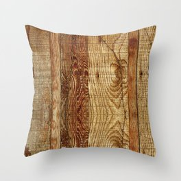 Wood Photography Throw Pillow