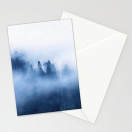 Foggy forest watercolor painting #13 Stationery Cards
