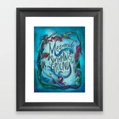 Mermaid Swimming Grounds Framed Art Print