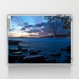 Tardis On The Sea Stone Laptop & iPad Skin