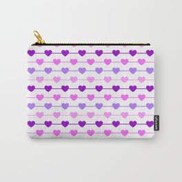 Hearts - Pink and Purple Carry-All Pouch