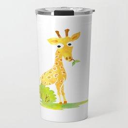 Baby Animal Watercolor Giraffe Adorable Nursery Travel Mug