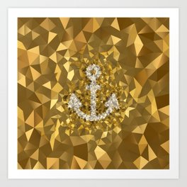POLYNOID Anchor / Gold Edition Art Print