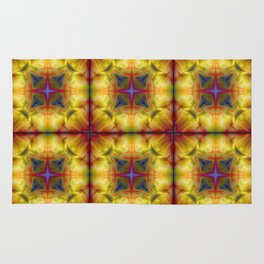 Soft drawing with colorful patterns in batik Rug