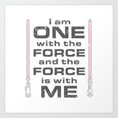 Force is with Me - Red Art Print