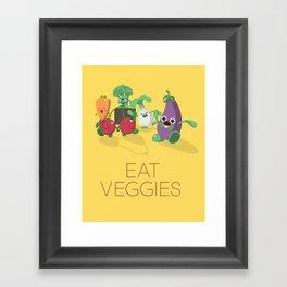 EAT VEGGIES Framed Art Print