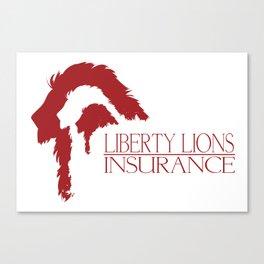 Liberty Lions Insurance Canvas Print