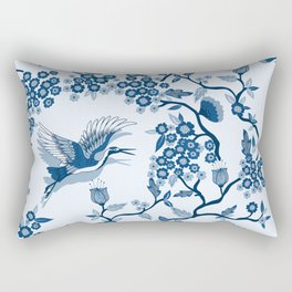Classi Blue Chinoiserie Rectangular Pillow