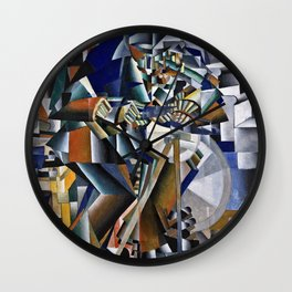 Kazimir Malevich - The Knife Grinder Or Principle Of Glittering. Wall Clock