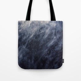 Blue Clouds, Blue Moon Tote Bag