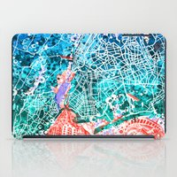 new york map iPad Cases featuring new york new york map by Bekim ART