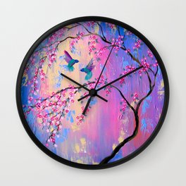 Paradise With You Wall Clock
