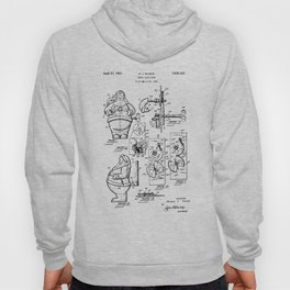 Santa Claus Bank Support Patent Drawing From 1953 Hoody