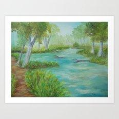 Little Manistee River MM120824a Art Print