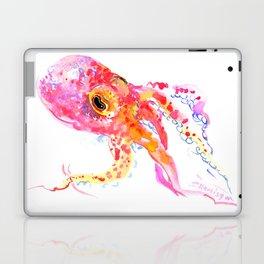 Bright Pink Octopus Laptop & iPad Skin