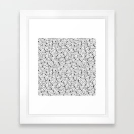 Butterflies Black on White Framed Art Print