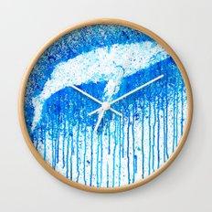Solitude Whale Wall Clock