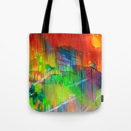 Dorms and Skies  Tote Bag