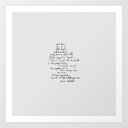 Have the Courage. Art Print