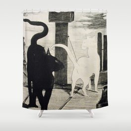 The Cats Rendezvous Edouard Manet 1868 Shower Curtain