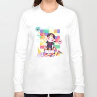 shinee Long Sleeve T-shirts featuring Downtown Baby SHINee by sophillustration