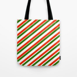 TEAM COLORS 1...Gren ,red,white Tote Bag