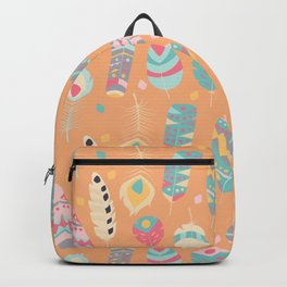 Tribal feather pattern 024 Backpack