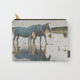 Camargue Horses #20 photograph Carry-All Pouch