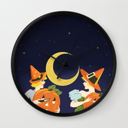 Vintage Halloween Costume Party Pumpkin Carving Wall Clock