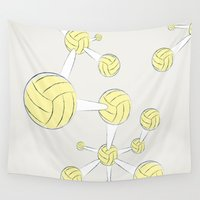 dna Wall Tapestries featuring Soccer DNA by HenryWine