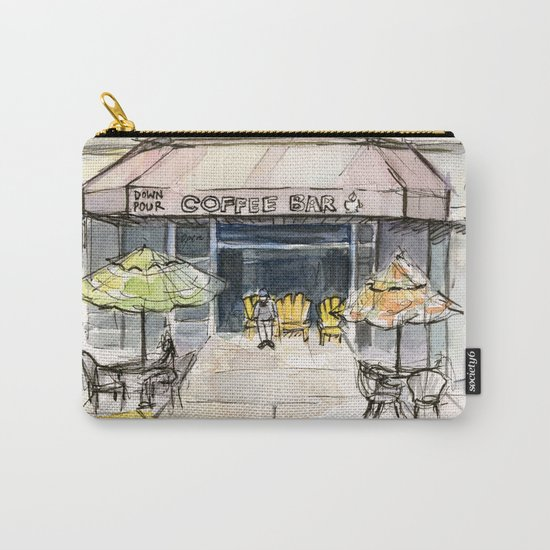 Coffee Shop Art Urban City Watercolor Carry-All Pouch