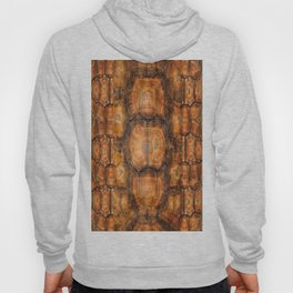 Brown Patterned  Organic Textured Turtle Shell  Design Hoody