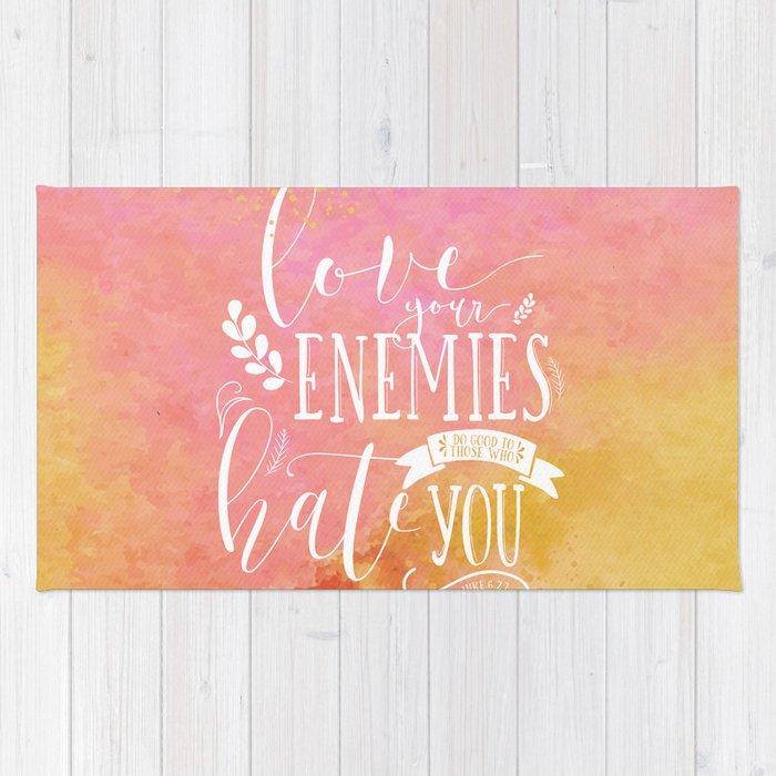 Luke 6 27 Love Your Enemies Rug