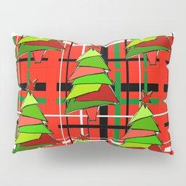 Plaid Trees Pillow Sham