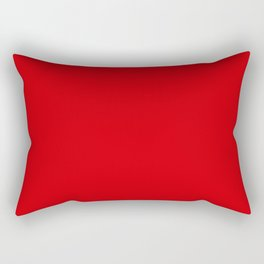 Red Red Rectangular Pillow