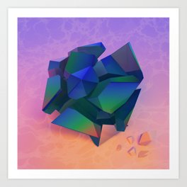 Cryptomineral #1 Art Print