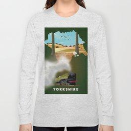 Yorkshire Travel poster Long Sleeve T-shirt