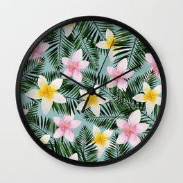 Leave Me Aloha in Seafoam Wall Clock