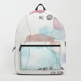 180805 Subtle Confidence 16| Colorful Abstract |Modern Watercolor Art Backpack