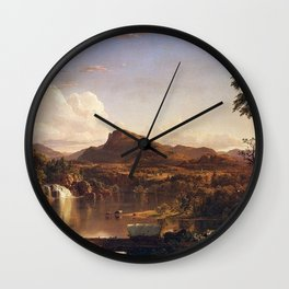 New England Scenery Landscape by Frederic Edwin Church Wall Clock