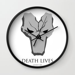 Death Lives Wall Clock