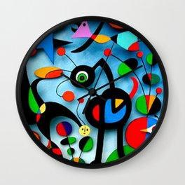The Garden by Miro Wall Clock