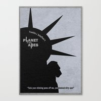 planet of the apes Canvas Prints featuring Planet of the Apes by A Deniz Akerman