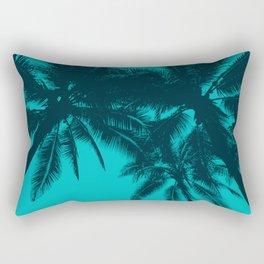 Blue palms in summer Rectangular Pillow