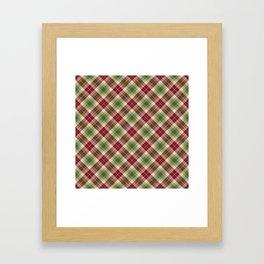Holiday Plaid 16 Framed Art Print